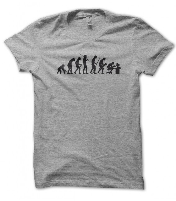 T-shirt Evolution de l'homme en GeeK