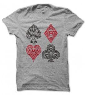 T-shirt Skull Cards ( Cartes Tête de mort )
