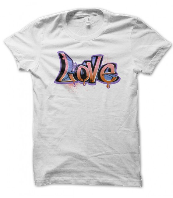 T-shirt Love Graph Hip Hop
