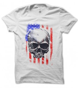 T-shirt Skull Flag USA