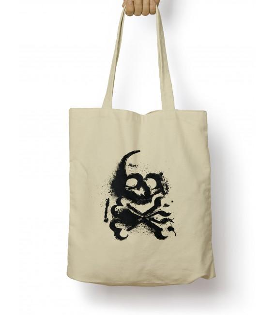 Tote Bag Tête de Mort Spray
