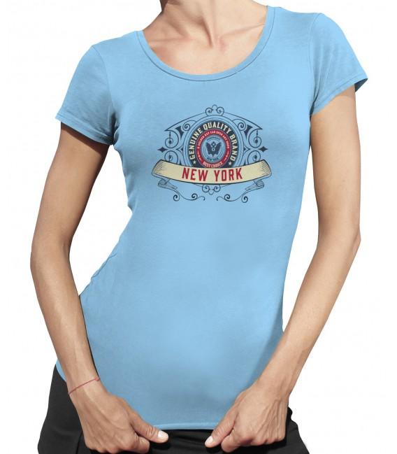 Tee-Shirt Femme, New York Genuine Quality Brand