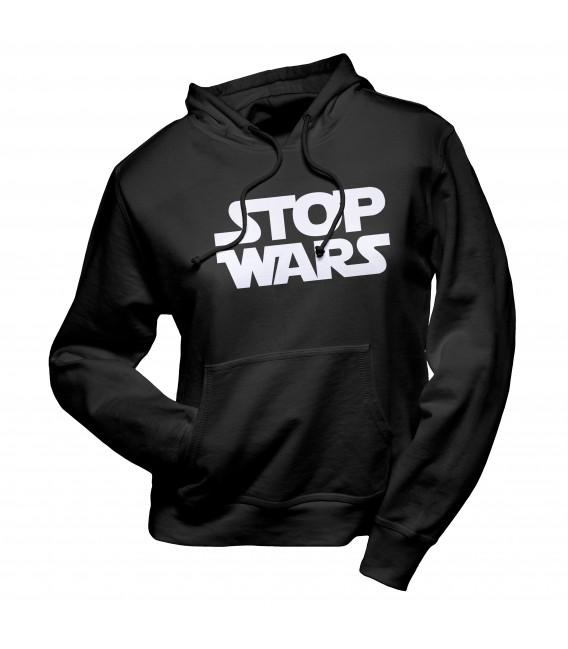 Sweat Shirt Capuche Stop Wars