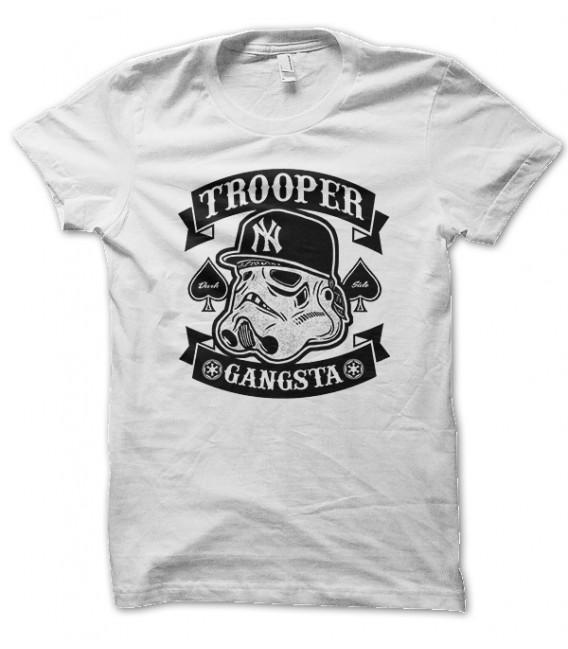 Tee Shirt Gangsta Trooper, May the Force Yo Man