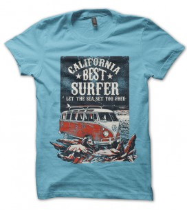 Tee Shirt California Best Surfer Minivan