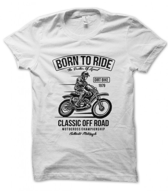 Tee Shirt Born to Ride, Motocross Championship