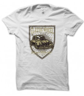 Tee Shirt Classic Wheel Retro Car Cox