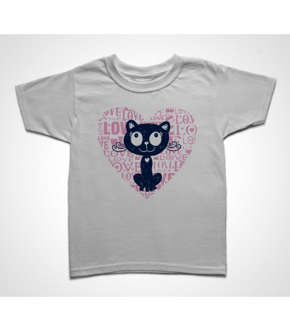 Tee shirt Enfant Love Cat
