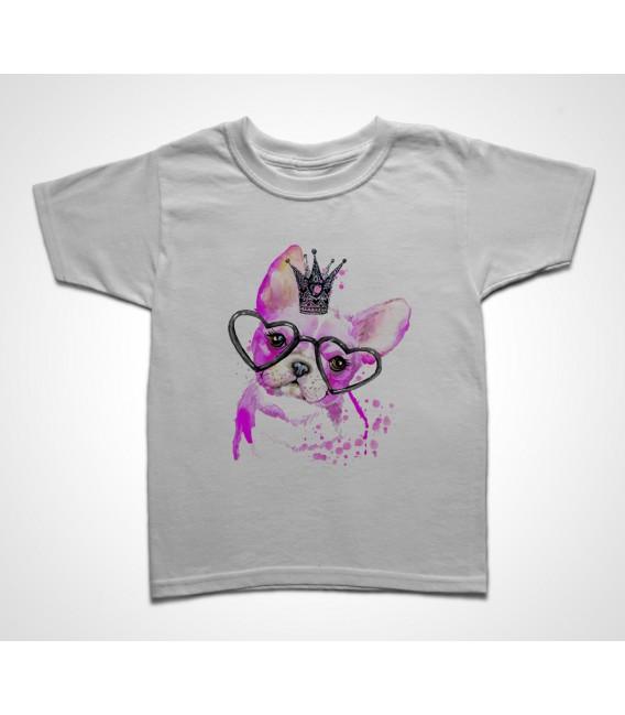 Tee shirt Enfant Chien Princesse