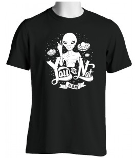 T-shirt Alien, You are not Alone, Fuck You