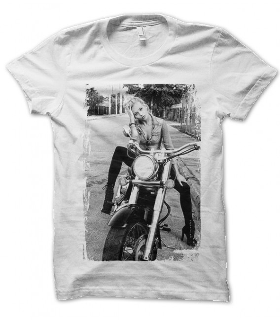 Tee Shirt Tee Shirt Girl's Biker on Harley Davidson