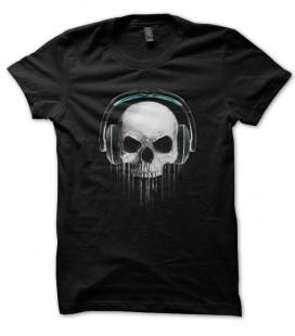 Tee Shirt Skull DeeJay ( tête de mort DJ )