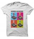 Tee Shirt GeeK Power, Joystick Warhol Style Pop Art