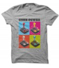 Tee Shirt GeeK Power, Joystick Warhol Style Pop Art