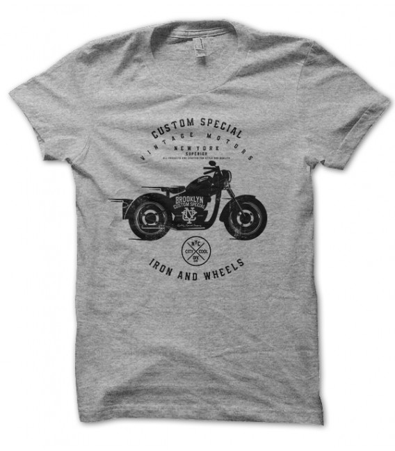 Tee Shirt Moto Custom Special New York