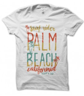 Tee Shirt vintage Palm Beach California Surf Up Rider