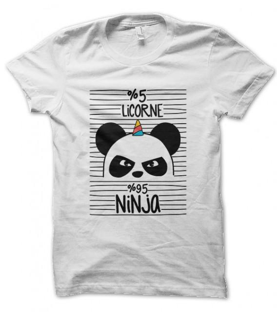 Tee Shirt Panda, 5% Licorne 95% Ninja