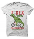 Tee Shirt T-Rex BiCycle Championship Racing Dinausore Vélocipède