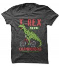 Tee Shirt T-Rex BiCycle Championship Racing Dinausore Vélocipède