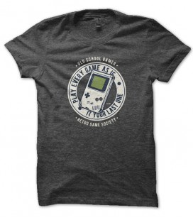Tee Shirt GeeK Old school Gamer, Gameboy