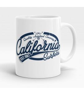 Mug blanc, California Surfers, Pacific Rider
