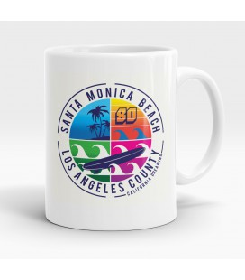 Mug blanc, Santa Monica Beach, Los Angeles County