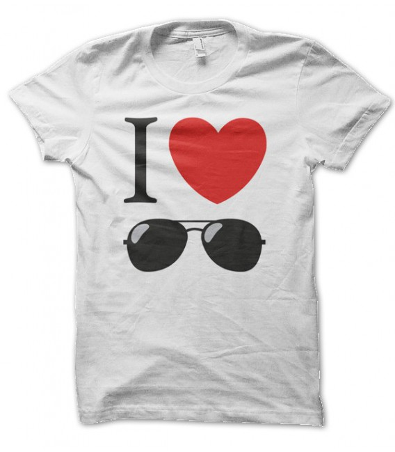 T-shirt I Love Sunglasses