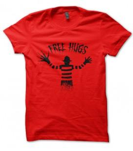 Tee Shirt Free Hugs, Freddy Krueger - Calins Gratuit