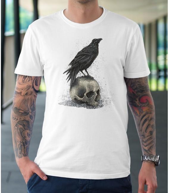 Tee Shirt Crow Skull, Le corbeau et le Crâne by HellHead