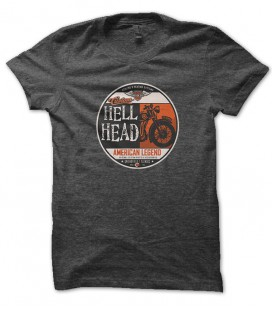 Tee Shirt Biker Hell Head, American Legend