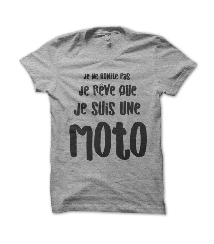 Tee Shirt Humour, Je ne ronfle pas, je rê