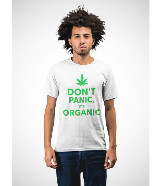 T-shirt humour Don't Panic, it' s Organic !