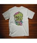 Tee shirt blanc Skull Freaks