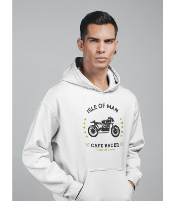 Sweat Shirt Capuche Cafe Racer, Isle of Man TT Races