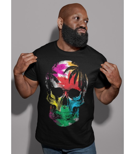 Tee shirt Homme Skull sous les tropiques by hellheal