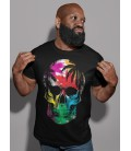 Tee Shirt noir, homme Skull sous les Tropiques by HellHead