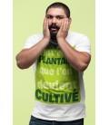 Tee Shirt Blanc, c'est en se plantant que l'on devient Cultivé !