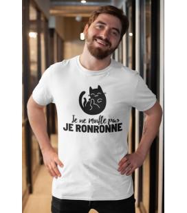 Tee Shirt Original pour homme Je ne ronfle pas, je Ronronne....