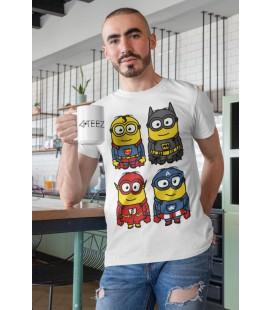 Tee Shirt Original 4 Minions Heros de T-GeeK !