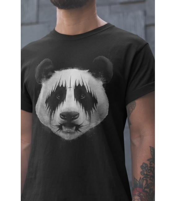 Tee Shirt Noir pour homme Original Black Metal Panda