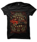Tee Shirt noir Iron Muscle American Classic by HellHead