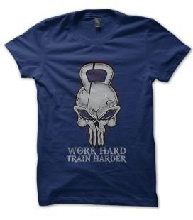 Tee Shirt KettleBell Punisher, Work Hard, Train Harder