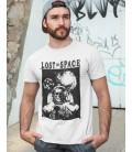 Tee Shirt blanc Lost in Space, Skull Nasa Explorer