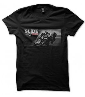 T-shirt Paint It Black, logo Slide Racing