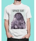 Tee Shirt blanc Space Cat