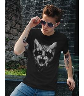 Tee Shirt Noir Metal Pussy Cat