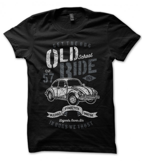Tee Shirt Get the Bug Old School, Vintage Coccinelle VW