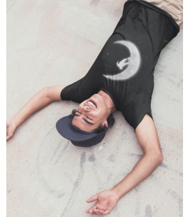 Tee Shirt Noir Skate in the Moon