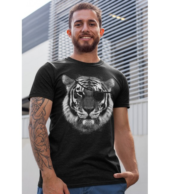 Tee Shirt original noir Eye of Tiger, l'œil du Tigre