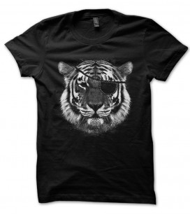Tee Shirt original noir Eye of Tiger, l'œil du Tigre